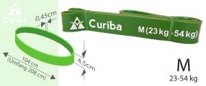 Widerstandsband Größe M (Widerstand 23kg ? 54kg) Farbe Grün Fitnessband zum Effektiven Krafttraining Resistance Band